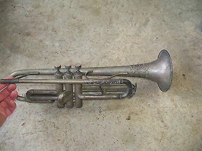 Antique All American Made Trumpet Decor Display Music