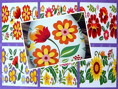 12 Easter Egg Wraps Thermo Sleeves, Decorative Egg Shrink Wraps - Flowers