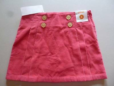 Gymboree Star Of The Show Pink Corduroy Skort Skirt W/Buttons Sizes 4 12 NEW