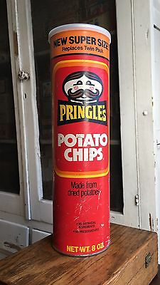Vintage Old Original Pringle's Potato Chip Can Package Canister w/ Lid