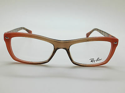NEW Authentic Ray Ban RB 5255 5487 Peach/Brown 51mm RX Eyeglasses