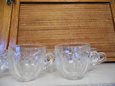 HEISEY Colonial - Clear Punch Bowl Cups Footed Set of 11