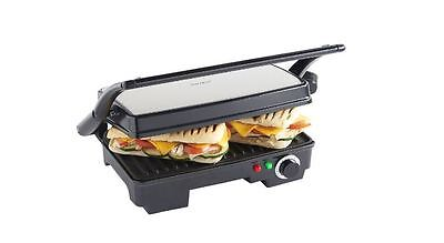 Panini Press Toaster, Health Grill 2-in-1, Griddle Toastie Maker Machine New