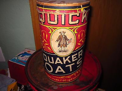 Vintage Original Early Quaker Oats Oatmeal Box