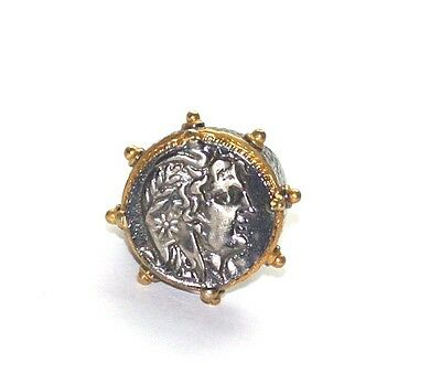 Antique Roman style ring 925 sterling silver