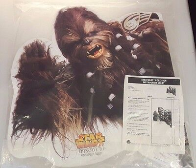 Star Wars Chewbacca Double-Sided Pole Sign Episode III Burger King Promo