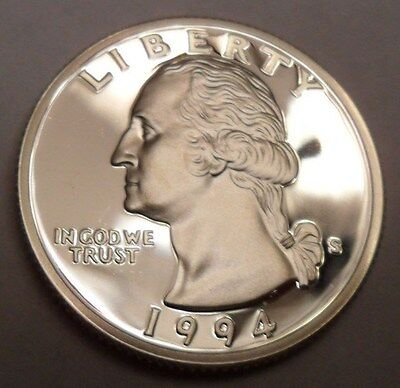 1994 S Washington *90% Silver Proof* Quarter  **free Shipping**