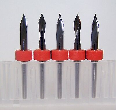 (5) - 45 degree angle carbide bits for scoring or engraving