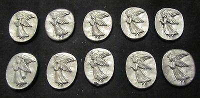 Pewter Guardian Angel, good luck, pocket coin token x 10 PIECES FREE S&H