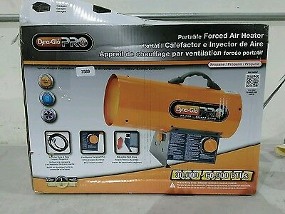 Dyna Glo Pro RMC-FA60DGP portable forced air heater 2589 B
