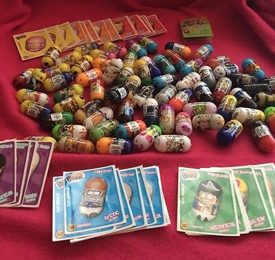 Lot Of 70,  2010 Mighty Beanz Plus 46 Stickers