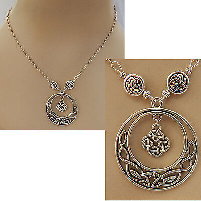 Silver Celtic Knot Pendant Necklace Jewelry Handmade NEW Adjustable Fashion