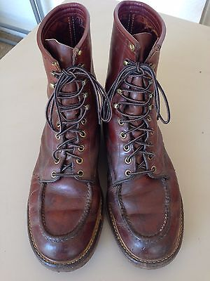 Vintage Red WIng Boots Moc-Toe
