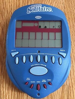 Radica Big Screen Solitaire 2004 Hand Held Electronic Game Working