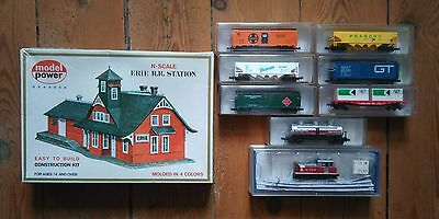 Bachmann Model Power N - Important Lot Motrice + Wagons + Maquette Le Tout Neuf