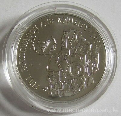 Mauritius 25 Rupees 1982 Year of Disabled Persons Silver BU