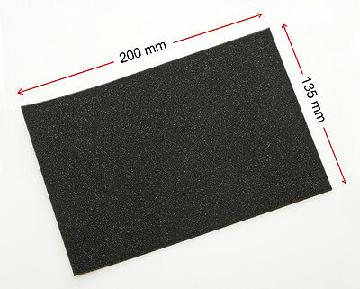 2,4 mm THICK - OPEN CELL FOAM SELF ADHESIVE -  ONE PIECE: 2,4 x 135 x 200 mm