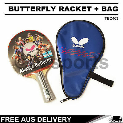 Butterfly TBC403 Table Tennis Bat Racket Long Paddle + Bag Package Free Post