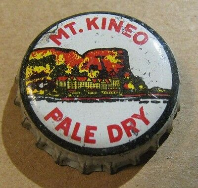Mt Kineo Pale Dry Ginger Ale Dexter Maine     Cork Soda Bottle  Cap