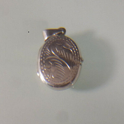 Sterling Silver Engraved Locket with Two Picture Spaces