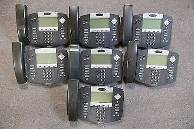 LOT 7 Polycom IP550 SIP 2201-12550-001 HD PoE VoIP Business Phones TESTED! 3COM