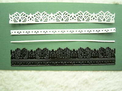 stunning FINLEY BORDER DIE CO724728 x Couture Creations - 15cm x 2.9cm  BNIP