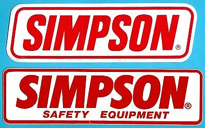 Sticker/Decal (2): SIMPSON Safety Equipment. Indy 500. Sprint Car Racing. Drag.