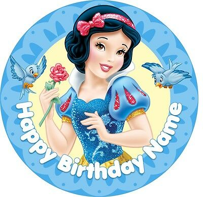 EDIBLE Snow White Cake Topper Birthday Party Wafer Paper 19cm (uncut)