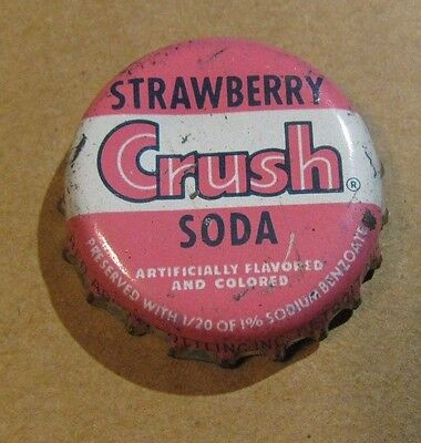 Crush Strawberry  Soda Detroit Michigan Red Arrow Bott. Cork Bottle Cap