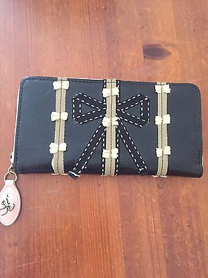 Spencer And Rutherford Black Zip Around Purse