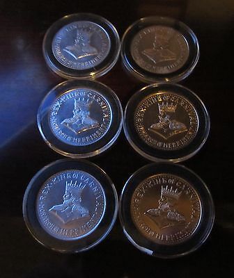 1960 - 1961 Rex Doubloons Silver and Gold Alum . Inverted V and Non Inverted .