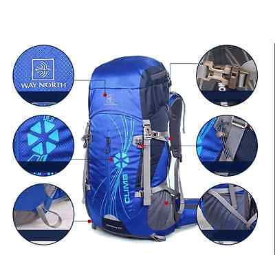 50L Backpack Mountaineering Unisex Camping Traveling Backpacking  winter