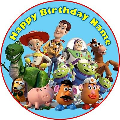 EDIBLE Toy Story Cake Topper Birthday Party Wafer Paper 19cm (uncut)