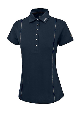 Pikeur Lola Womens Polo Shirt - Navy Blue
