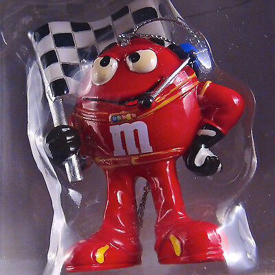 Collectible Nascar M&M's Candy Pit Crew Red 'Flagman' - 2011 Ornament NIB