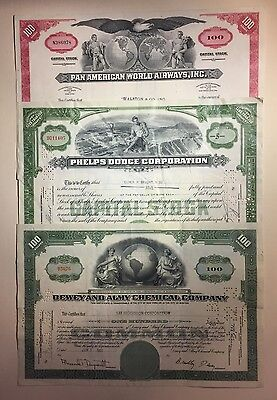 Vintage Capital Stock Certificates, Lot of 11