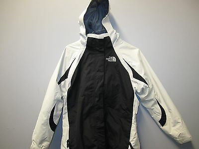 North Face Girls Kira Mossbud Triclimate Jacket in Cream and Black- Size Large