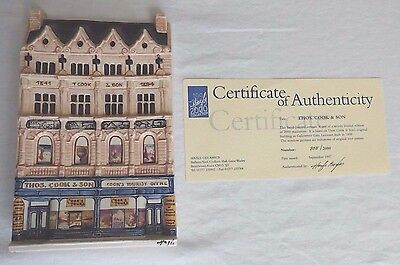 "HAZLE CERAMICS ~ A Nation Of Shopkeepers ~ ""Thos. Cook & Son"" ~ Limited Edition"