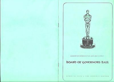 1972 Board of Governors Ball, Academy of Motion Picture Arts & Sciences