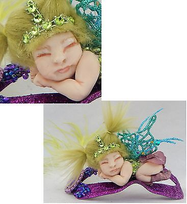 Lavinia Masquerade Mask Sleeping Baby OOAK Fairy Fairies Art Doll Figurine NEW