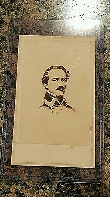 Confederate Civil War General Robert E Lee Mexican War CDV Image