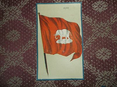 Victorian 1880's Scrapbook Card Siam Flag Nice!