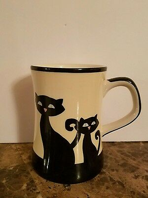 Hues N Brews Cattitude  Black Cat Mug