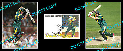 David Hussey Australian Cricket Champion Signed Cover +2 Photos