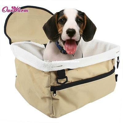 Travel Folding Dog Cat Pet Puppy Car Carrier Booster Seat Bag Safety Belt Cover