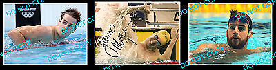 James Magnussen Aust Olympic Swimming Champion Signed Photo +2 Photos