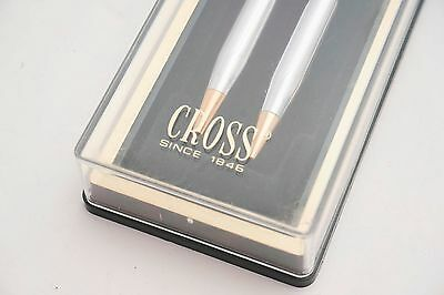 NIB Vintage CROSS Ballpoint Pen and Mechanical Pencil SET with Gold Trims