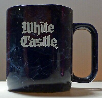 WHITE CASTLE coffee mug cup Blue Marble look