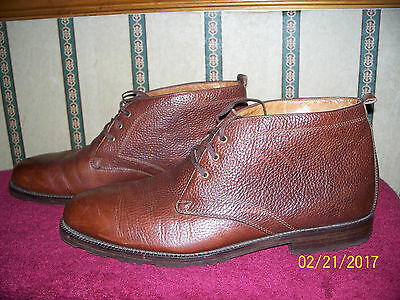Johnston & Murphy Gramercy Brown Leather Dress Boots Size 11 1/2 D