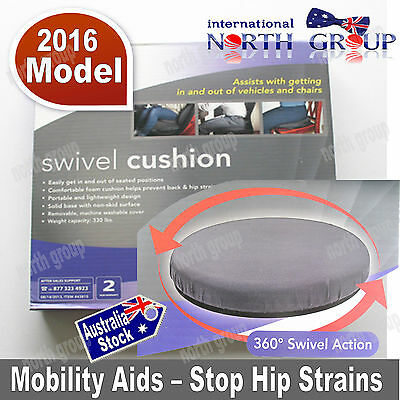 Mobility Aid Large Padded 360 deg Swivel Cushion Seat for Car, Stool, Chair